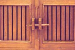 Wooded locked door Royalty Free Stock Photos