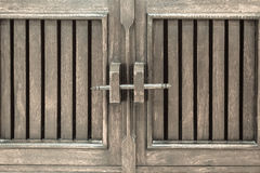 Wooded locked door Royalty Free Stock Images