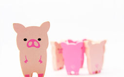 Wooded Pigs Royalty Free Stock Photo