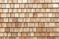 Wooded plank roof tiles Stock Photography