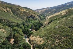 Wooded Road in Hills of Southern California Stock Photo