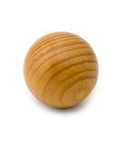 Wooded souvenir. (ball) on a white background stock photo