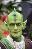 Woodelf verde do hob do kobold do goblin do duende do imp Fotos de Stock