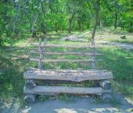 52-Wooden ławka zdjęcie royalty free