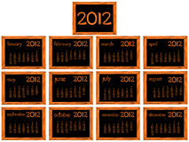 Wooden 2012 calendar. Over white background, abstract vector art illustration Royalty Free Stock Photo