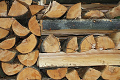 Wooden. Pile of wooden logs - background royalty free stock photo