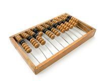 Wooden abacus. Studio shot of wooden abacus Stock Illustration