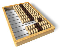 Wooden abacus. Isolated over white background Royalty Free Stock Images
