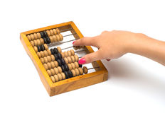 Wooden abacus. Royalty Free Stock Photos