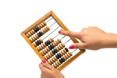 Wooden abacus. Royalty Free Stock Images