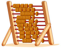 Wooden abacus for calculation Stock Image