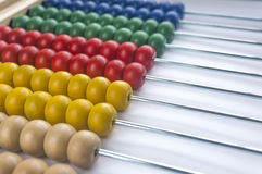 Wooden abacus. Close up wooden abacus with selective focus Stock Images