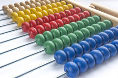 Wooden abacus. Close up wooden abacus with selective focus Stock Photos