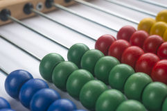 Wooden abacus. Close up wooden abacus with selective focus Stock Photography