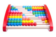 Wooden abacus isolated on white Stock Images