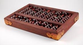 Wooden abacus metal corners Stock Image