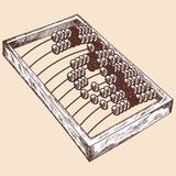 Wooden abacus sketch Royalty Free Stock Image