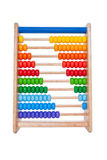 Wooden abacus on white background Royalty Free Stock Images