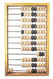 Wooden abacus on a white background. With the number two isolate Royalty Free Stock Photos