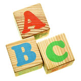 Wooden ABC Royalty Free Stock Image
