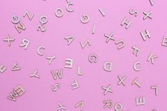 Wooden ABC alphabet letters royalty free stock photography