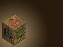 Wooden ABC block Stock Photography