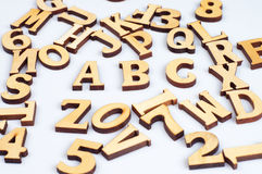 Wooden abc letters Stock Image