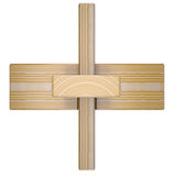 Wooden abstract 3D shape Stock Photography
