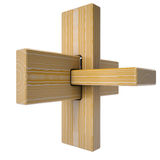 Wooden abstract 3D shape Royalty Free Stock Photography