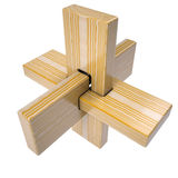 Wooden abstract 3D shape Royalty Free Stock Photos