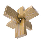 Wooden abstract 3D shape Royalty Free Stock Images