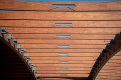 Wooden Abstract Details Of A Wooden Structure Stock Image
