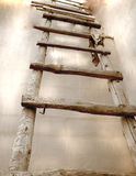Wooden abstract old ladder Royalty Free Stock Image