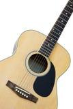 Wooden acoustic folk guitar Stock Photos