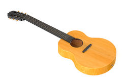 Wooden acoustic guitar Royalty Free Stock Photography