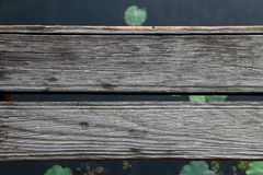 Wooden across the river Royalty Free Stock Photo