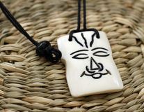 Wooden african amulet royalty free stock image