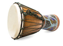Wooden african drum Royalty Free Stock Image