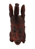 Wooden african mask Royalty Free Stock Photo