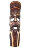 Wooden African native face mask Royalty Free Stock Photo