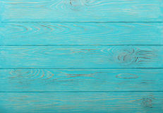 Wooden aged background of azure color. Royalty Free Stock Images