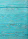 Wooden aged background of azure color. Stock Photos
