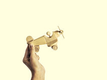 Wooden aircraft 1 Royalty Free Stock Photography