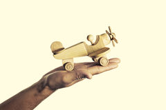 Wooden aircraft Royalty Free Stock Image