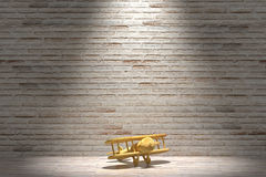 Wooden airplane Royalty Free Stock Photos