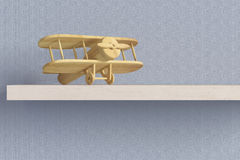 Wooden airplane Stock Image