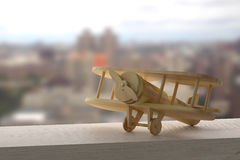 Wooden airplane Royalty Free Stock Images