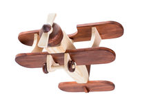 Wooden airplane isolated with clipping path Stock Photo