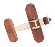 Wooden airplane model bottom view isolated Stock Photo