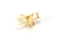 Wooden airplane model Stock Photos